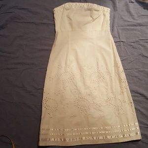 Very cute white B.Moss strapless dress